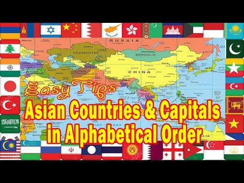 Asian Countries and Capitals in Alphabetical Order