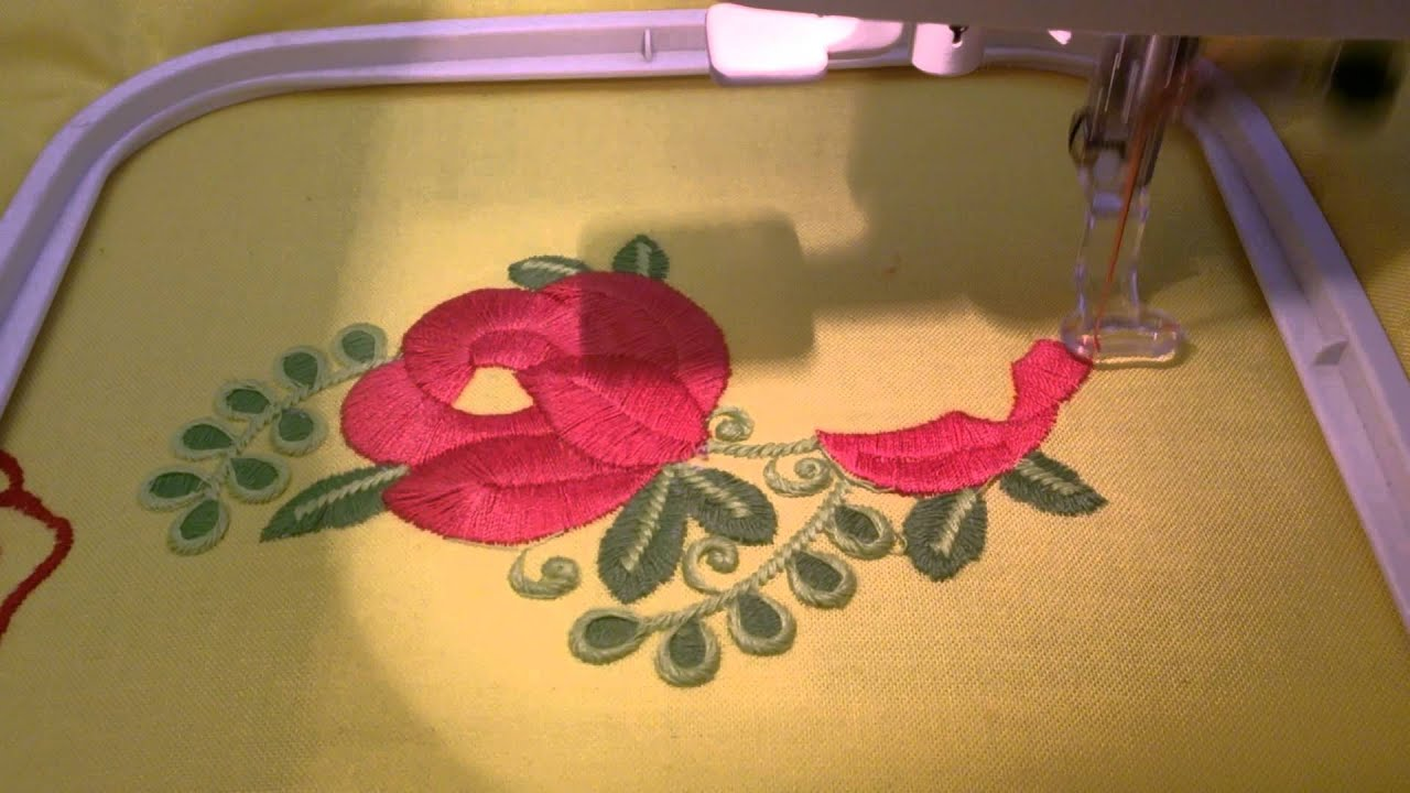 Free Machine Embroidery Design – Bouquet of red flowers ...
