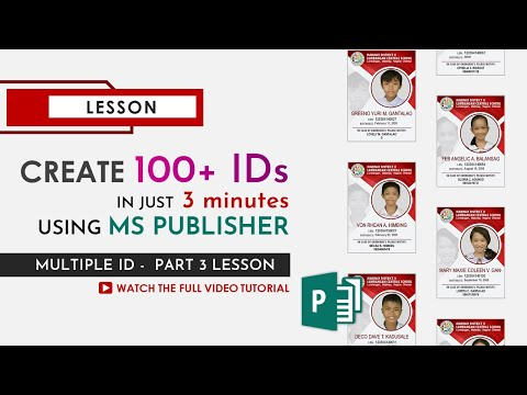 Create 100+ IDs In Just 3 MINUTES Using MS Publisher - CLICK GURU