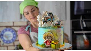 Кондитерский VLOG МУЛЬТЯШНЫЙ торт Делаем торт ВМЕСТЕ Мама Вика
