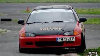 Honda Civic EG6 and Renault Clio RS Rally Time Attack Battle 2016 - Kart Track