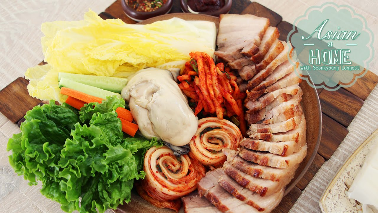 Bossam korean boiled pork wrap youtube forumfinder Image collections