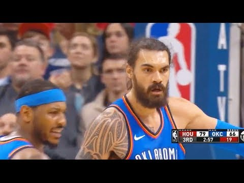 Carmelo Anthony Yells at Steven Adams For Not Helping Him After Getting Exposed By James Harden!