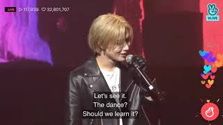 Taemin teaching Eunhyuk Want choreography