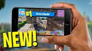 MY FIRST FORTNITE MOBILE GAMEPLAY!