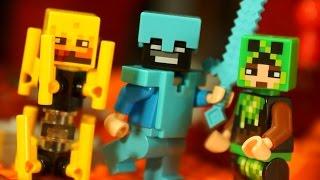 АРМИЯ МАЙНКРАФТ :) Коллекция Лего Майнкрафт - Lego Minecraft - Видео Обзор на русском