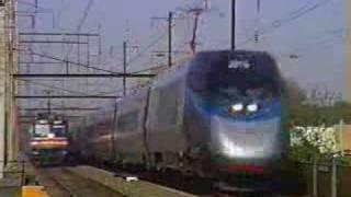 Acela Express races Amtrak Metroliner May 1 2001