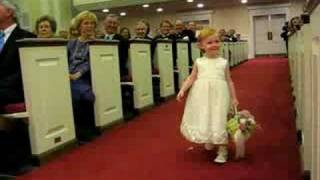 Flower girl walk