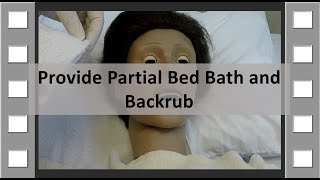 Provide Partial Bedbath and Backrub CNA Skill NEW thumbnail