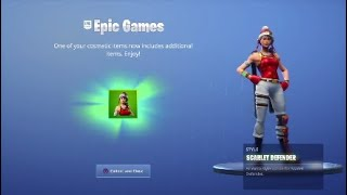 *NEW* Scarlet Defender Skin Style Showcase in Fortnite Battle Royale!
