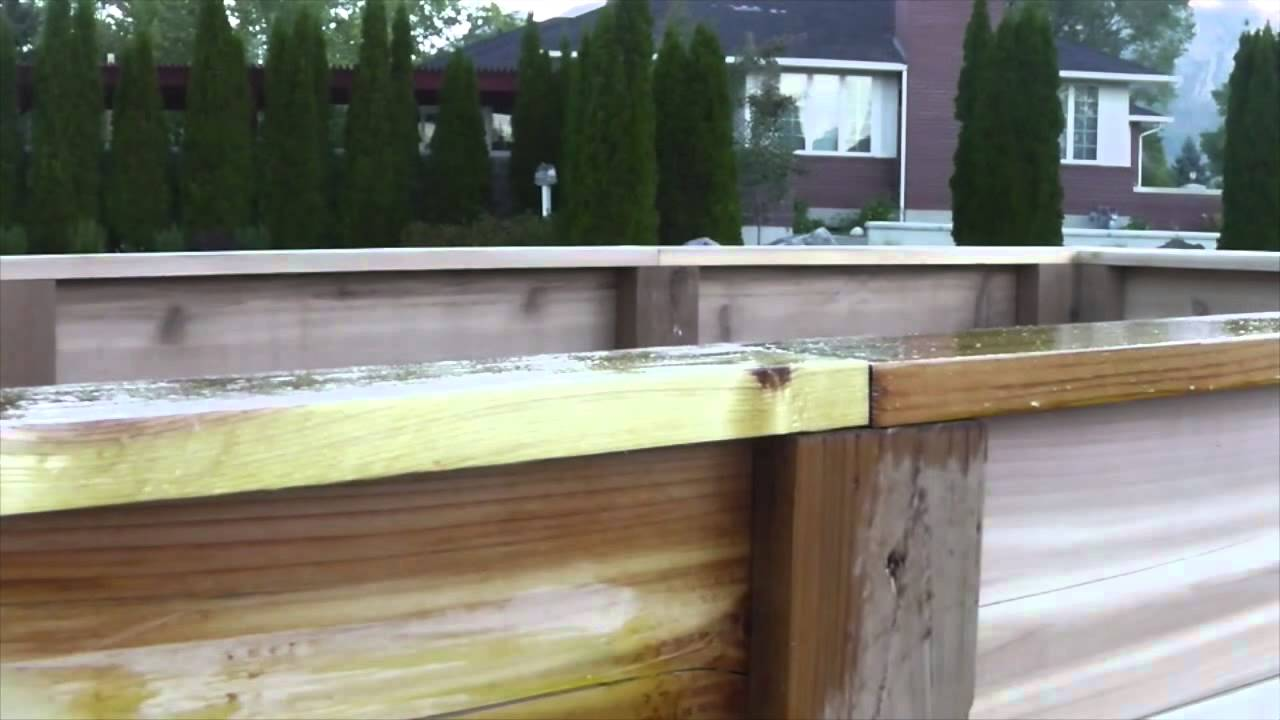How To Protect Your Raised Beds With Raw Linseed Oil Part 37
