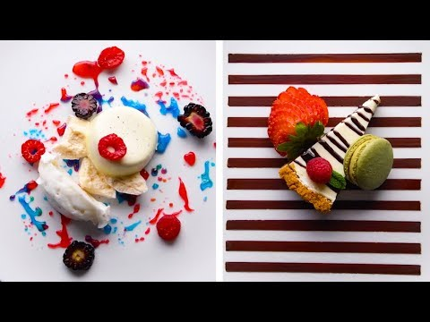 20 Fancy Plating Hacks That Will Blow Your Mind | DIY Dessert Decorations & Hacks by So Yummy!