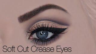 Cut Crease Augen schminken auf Deutsch mit Lidstrich und falschen Wimpern