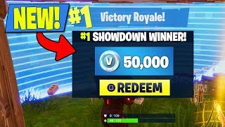 "HOW TO WIN 50,000 V-BUCKS IN FORTNITE! NEW ""SOLO SHOWDOWN"" GAMEPLAY! (FORTNITE #1 SOLO SHOWDOWN LTM)"