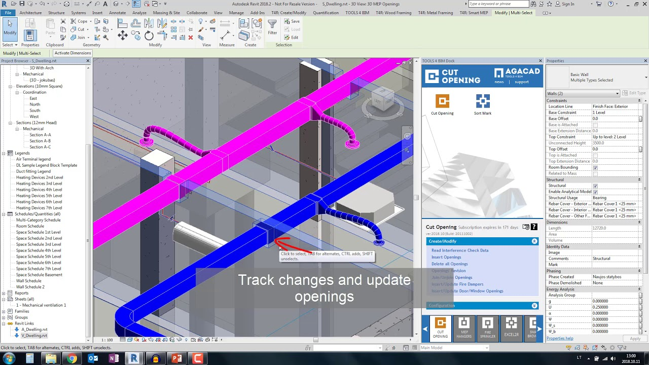 BIM Solution for automatic cutting holes in Revit model | Cut