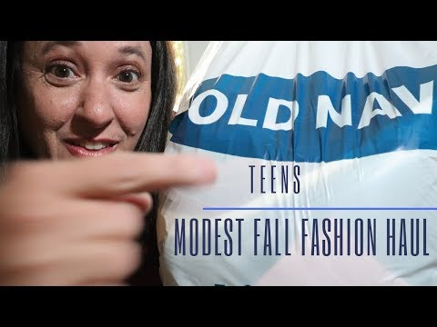 Fashion for teens haul | Old Navy | modest casual looks
