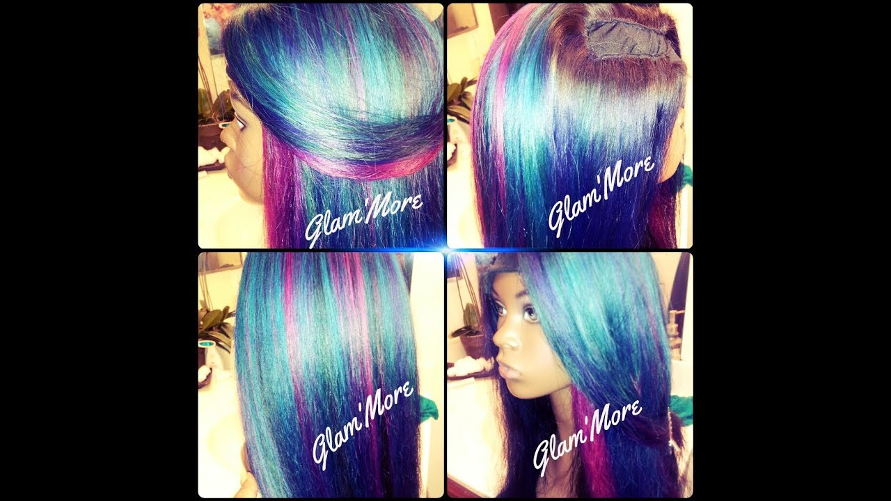 Mermaid Hair Color Weave