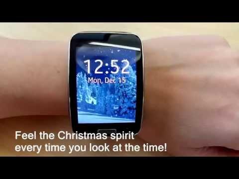 Christmas Snow Animated Clock for Samsung Gear S