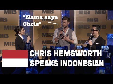 Chris Hemsworth Speaking Indonesian | Men In Black International Tour In Bali May 2019