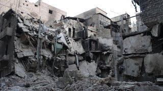 غارات على بصرى الشام بريف درعا تصيب العشرات