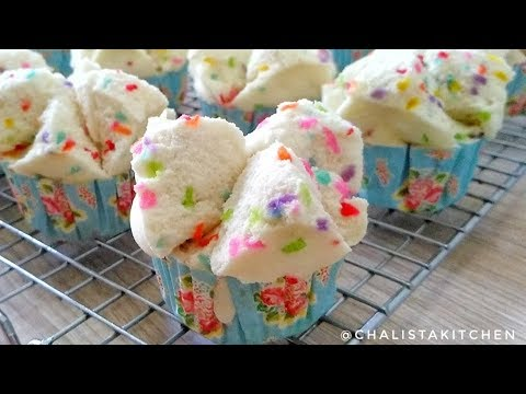 ANTI GAGAL!!  BOLU KUKUS MEKAR MESES RAINBOW TANPA SODA - STEAMED CAKE