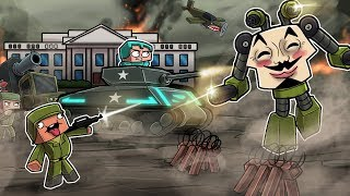 Minecraft - WORLD WAR 3! (NOOB vs PRO vs HACKER)