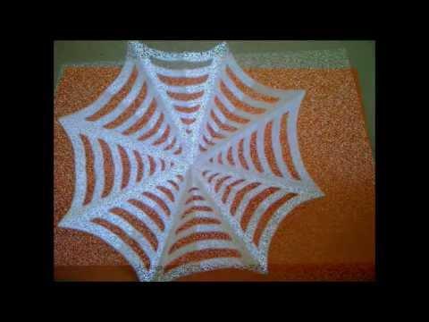 C mo hacer una tela de ara a de papel para halloween como - Como hacer tela de arana ...