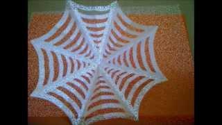 Cómo hacer una tela de araña de papel para Halloween. Como fazer teias de aranha