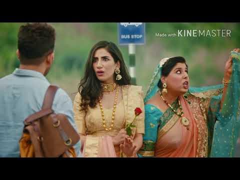 Allu Arjun red bus advertising in Hindi