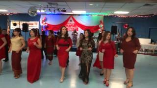 Hmong line dance - Valentine Party in La Crosse, Wisconsin 2017