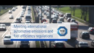 Meeting international automotive emissions and fuel efficiency regulations | TÜV SÜD