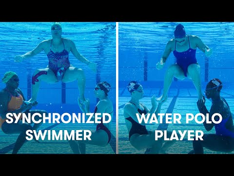 Water Polo Players Try Synchronized Swimming   SELF