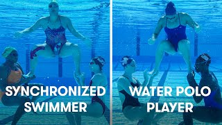 Water Polo Players Try Synchronized Swimming | SELF