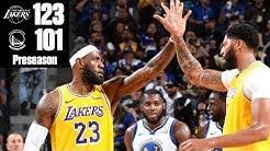 Anthony Davis, LeBron James lead Lakers to win vs. Warriors | 2019 NBA Highlights