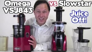 Omega VSJ 843 vs SlowStar Juicer Comparison Review - Juicing Carrots