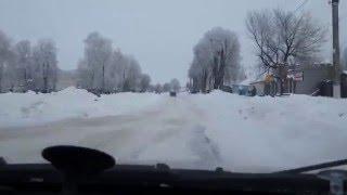 Большие снега зимой 2016 глазами автомобилиста
