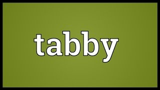 Tabby Meaning