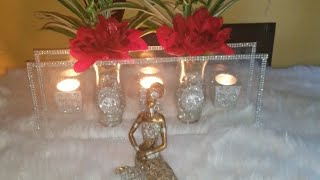 Dollar Tree DIY Glass floating vase and candle holders