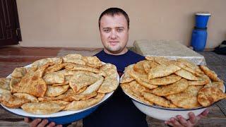 Скорее сохраняйте рецепт.Узбекские сочные чебуреки.Узбекистан.