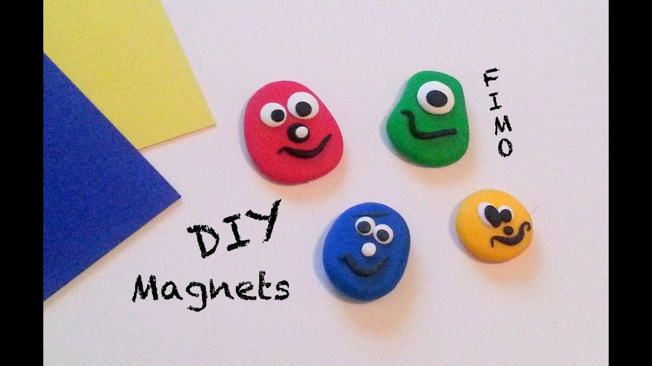 diy comment faire des magnets avec de la p te fimo youtube. Black Bedroom Furniture Sets. Home Design Ideas