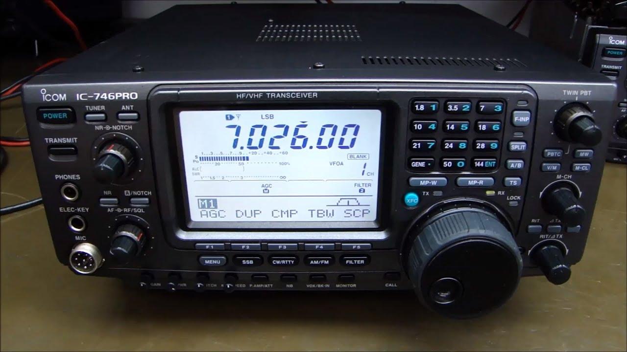 ALPHA TELECOM: ICOM IC-746PRO SEM TRANSMISSÃO e REVISÃO GERAL