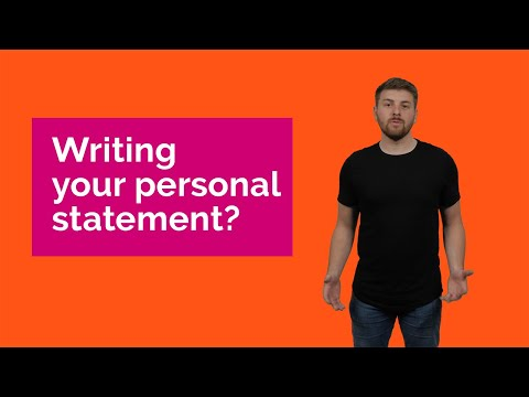 How To Write A Personal Statement When Applying To University