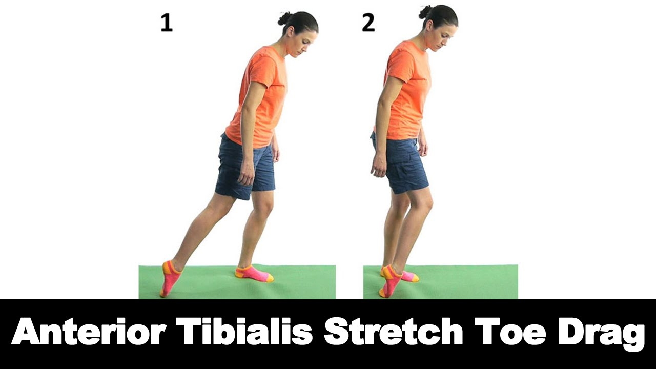 Anterior Tibialis Stretch Toe Drag - Ask Doctor Jo - YouTube