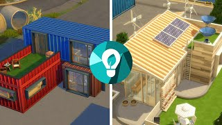 Green vs. Industrial House in The Sims 4: Eco Lifestyle