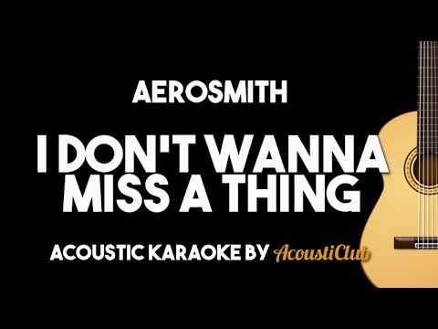 Aerosmith  I Dont Wanna Miss A Thing Acoustic Guitar Karaoke Backing Track