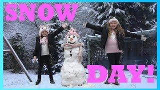 SNOW DAY!!! School Got Cancelled - Do you wanna build a Snow Man?