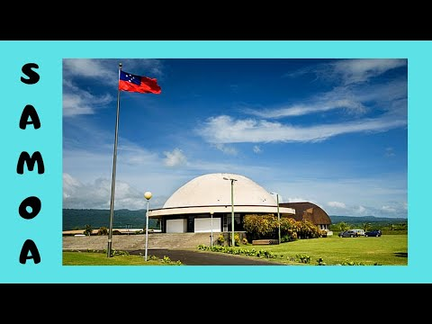 SAMOA, the historic PARLIAMENT BUILDING just before DEMOLITION (South Pacific Ocean)
