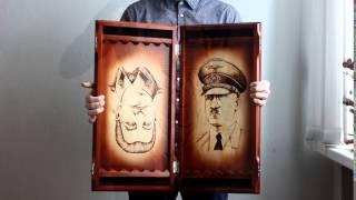Нарды Россия - Германия, Сталин - Гитлер(Нарды ручной работы, с лицевой стороны нанесена символика советского союза и фашистской германии. С внутре..., 2016-04-07T09:30:00.000Z)