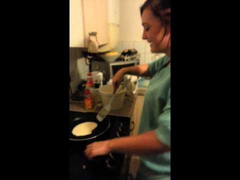 Making pancakes (fuck you matilda)