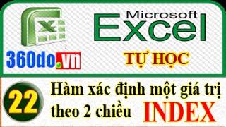 Tự học Excel hiệu quả nhất. Bài 22: Sử dụng hàm INDEX để truy xuất dữ liệu trong một bảng 2 chiều.